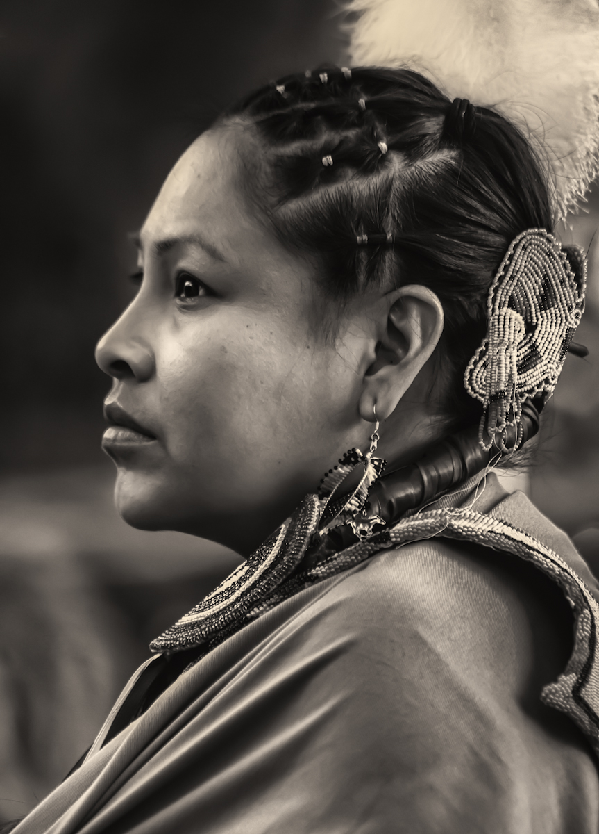 Portrait of a Native American Indian