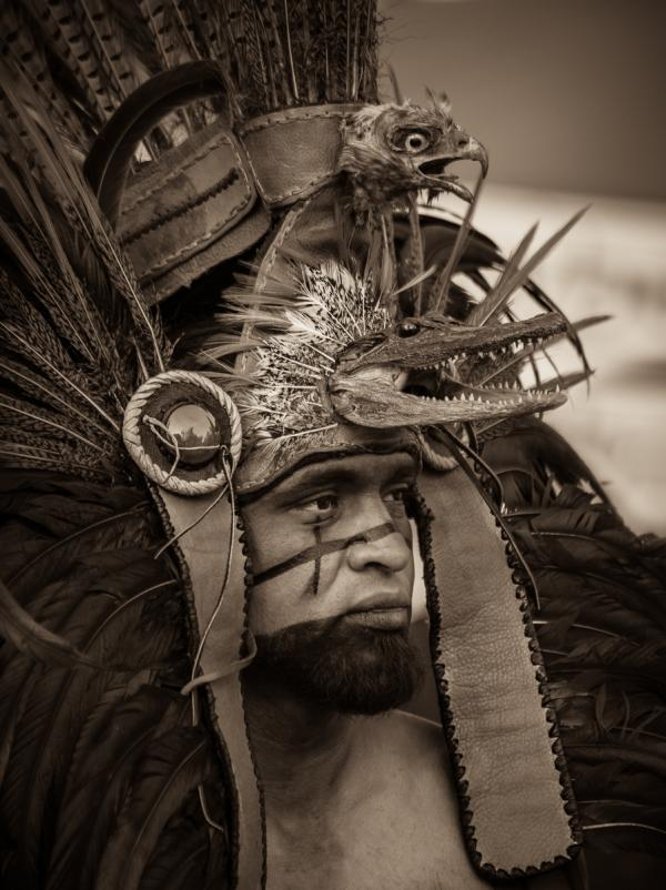 Native American Indian with Headdress