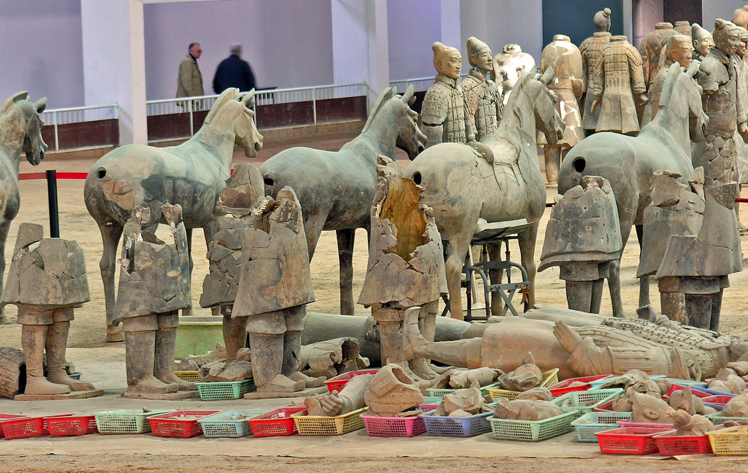 Putting the pieces back together, Terra Cota Warriors, Xian, China