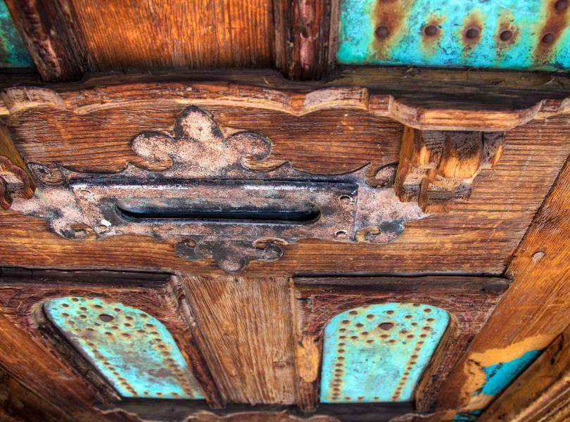 Old Rusty Mail Slot