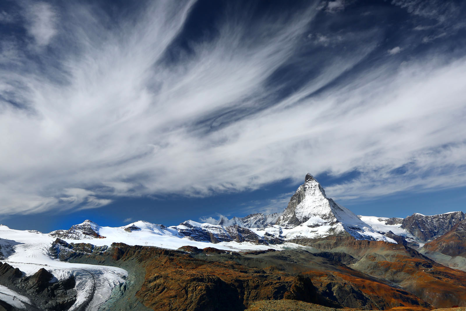 Sweeping view of Matterhorn in the morning
