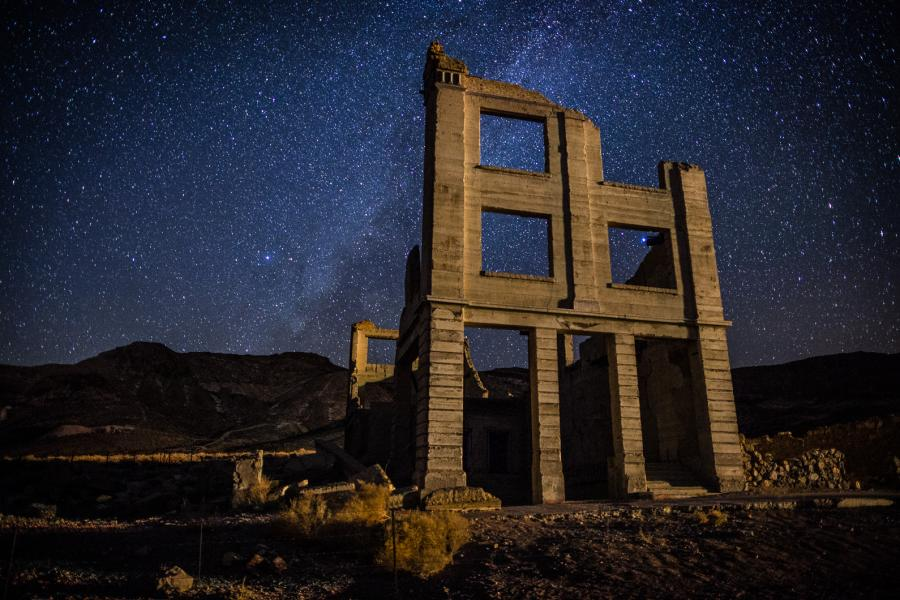 Rhyolite and Milky Way