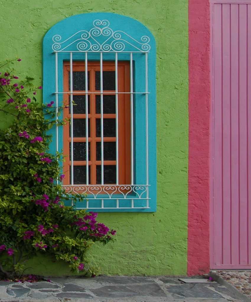 Colorful Window and Walls