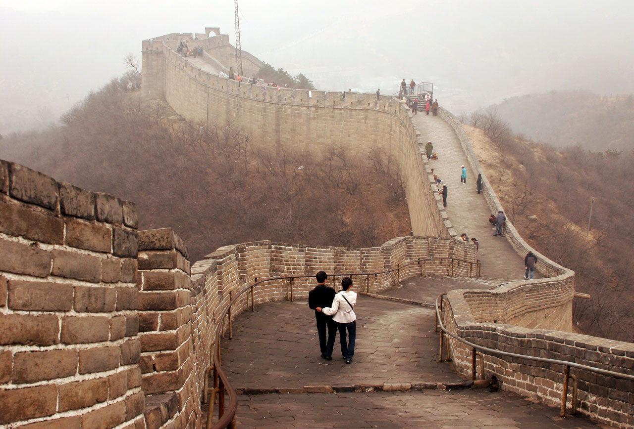Great Wall of China in Winter - Beijing, China