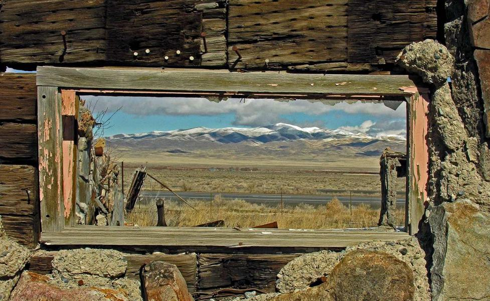 Thunder Mountain window, near Winnemucca, NV