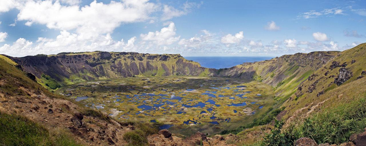 Rano Kau Crater, Orango, Easter Islands