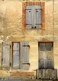 Two windows and a door, Champagne, France