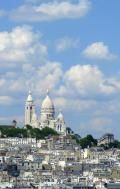 View of Sacre Coeur, Spring day in Paris