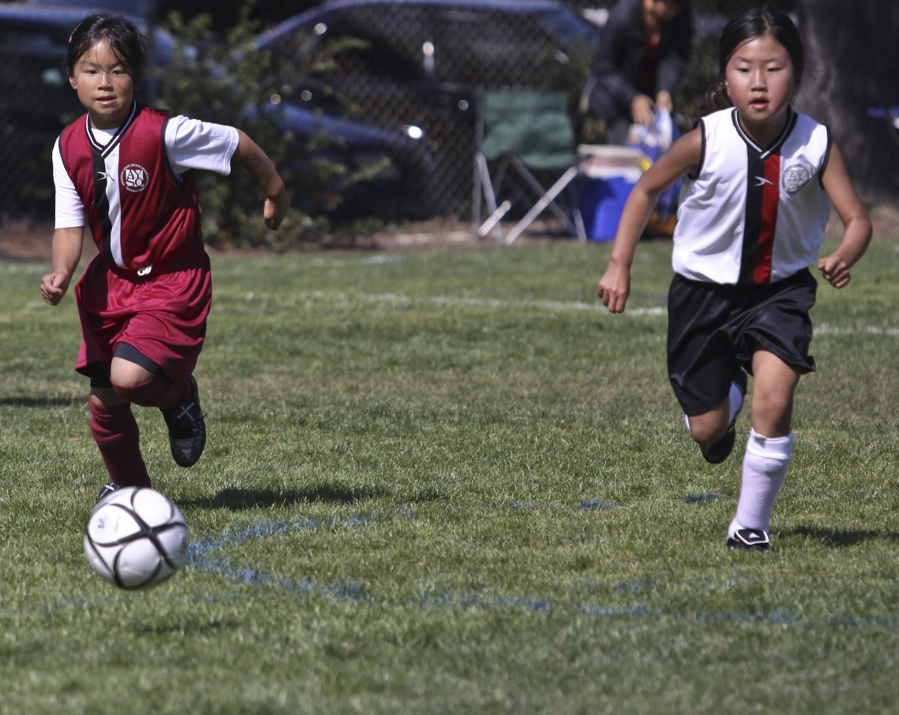 AYSO Millbrae Girls' Soccer U8, Taylor Middle School, Millbrae, California