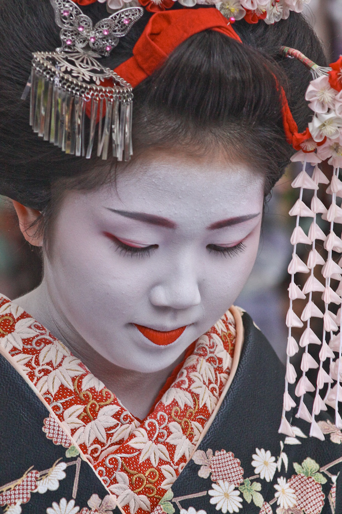 Portrait of An Apprentice Geisha, Kitano Tenmangu, Kyoto, Japan
