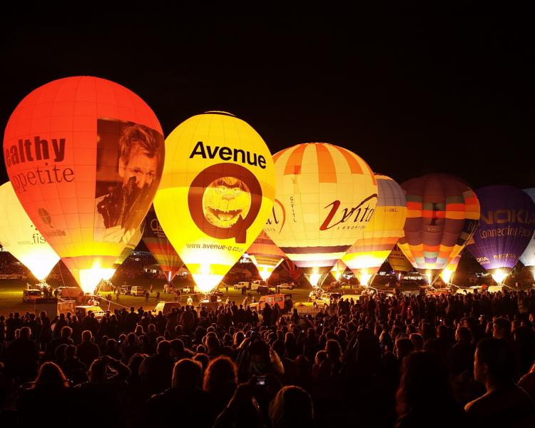 Night Glow at Bristol Balloon Fiesta, England