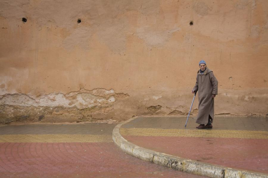 Morocco man walking