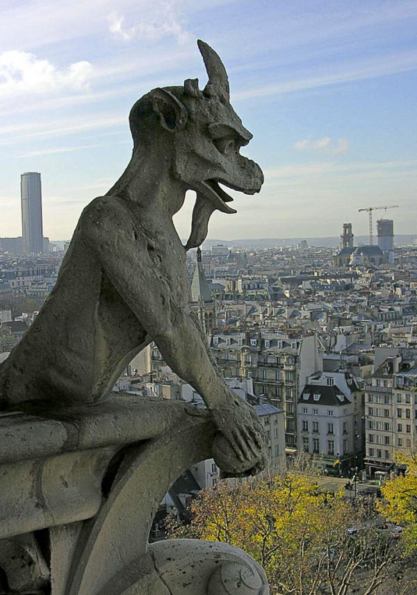 Looking out over Paris from Notre Dame