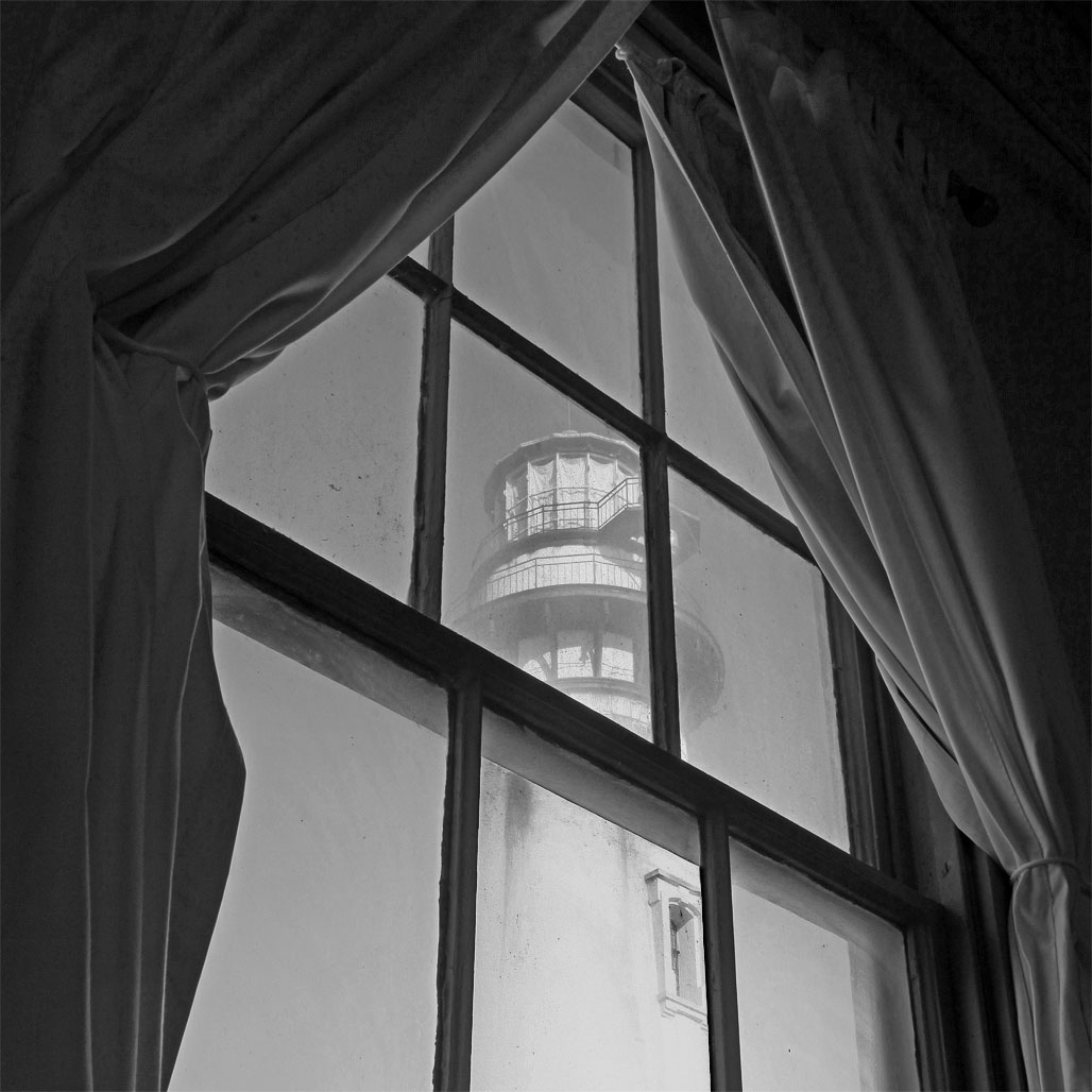 Pigeon Point Lighthouse through the Old Window