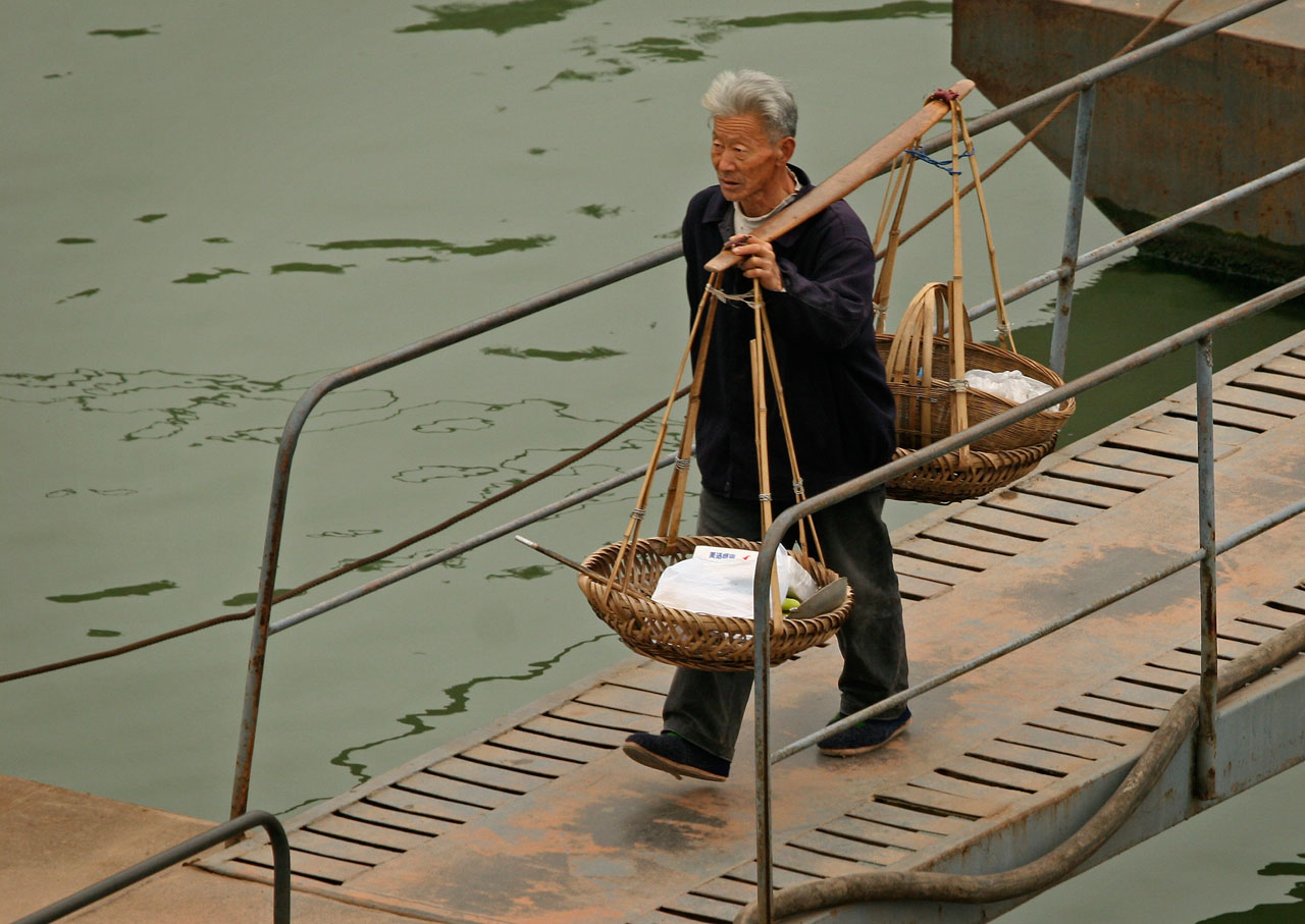 Carrying His Wares Home, China