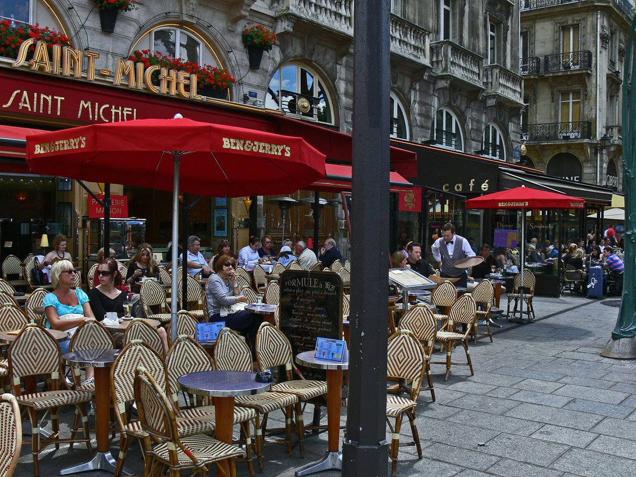A little bit of home at a Paris Cafe, France