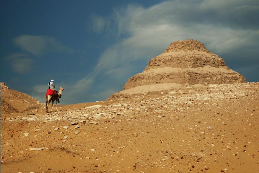 Riding to the Step Pyramid