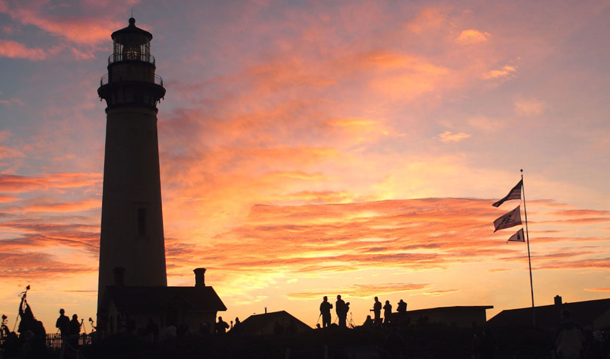 Pigeon Point Lighthouse at dusk- Pescadero, CA