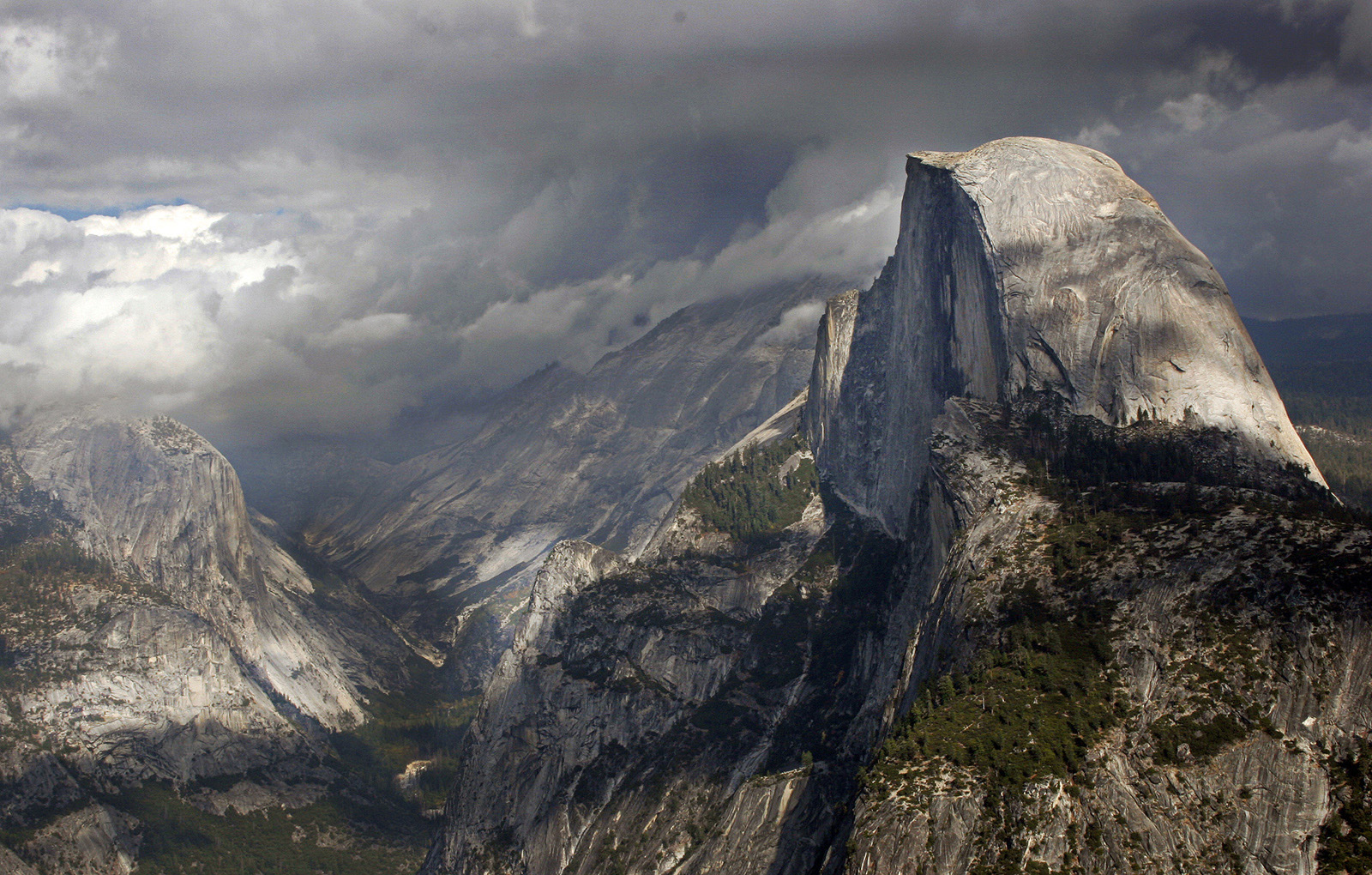 Stormy Weather over Half Dome