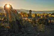 Sun Light Through a Tufa