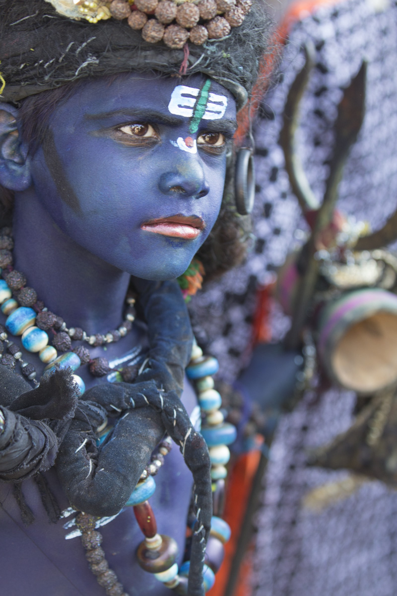 Blue Boy Pushkar Camel Fair India