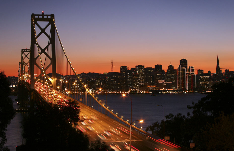 SF Bay Bridge at Night